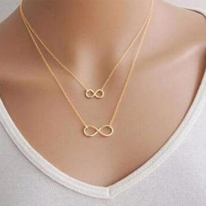 Double Layered Infinity Pendant Necklace